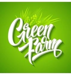 Farm Fresh calligraphic inscription vector image