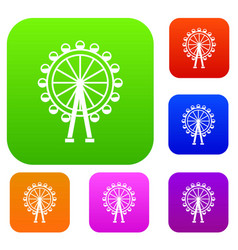 ferris wheel set collection vector image