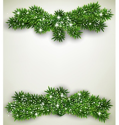 Fir bundle christmas frame vector image vector image