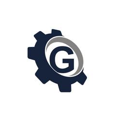 gear logo letter g vector image
