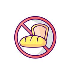 Gluten intolerance rgb color icon vector