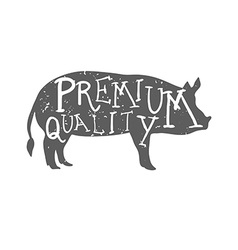 Hand Drawn Farm Animal Pig Premium quality vector image