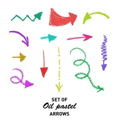 Hand drawn oil pastel arrows for presentation vector