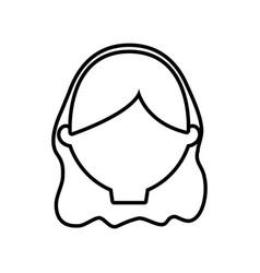 head female woman thin line vector image