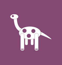 Icon on background giraffe toy vector