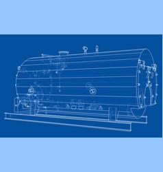 Industrial boiler outline rendering 3d vector
