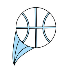 isolated basketball design vector image