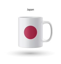 Japan flag souvenir mug on white background vector
