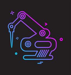 labour tools icon design vector image