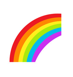 lgbt rainbow symbol icon gay pride vector image