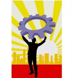 machine wheel vector image