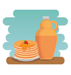 Maple syrup canadian product vector