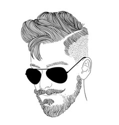 men wear glasses in black vector image