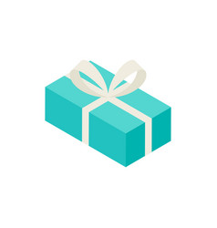 mint present box isometric object vector image