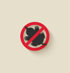 Mole silhouette animal pest icon stop sign vector