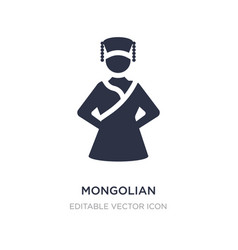 Mongolian icon on white background simple element vector