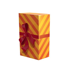 New year striped gift box isolated vector