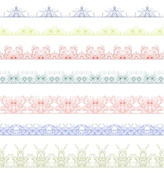 Ornamental floral seamless pattern vector image vector image