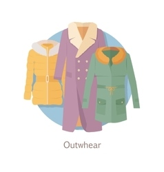 Outerwear Web Banner Winter Collection for Woman vector