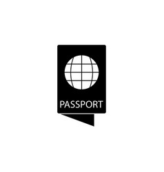 passport icon element of travel icon for mobile vector image