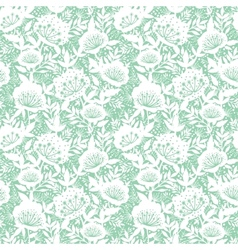 Pastel dream flowers seamless pattern background vector image