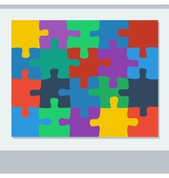 Puzzle of twenty pieces vector