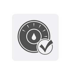 Quality control at home icon with thermostat sign vector