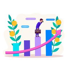 Revenue growth concept vector