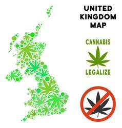 Royalty free marijuana leaves composition united vector
