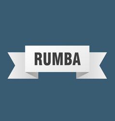 Rumba ribbon rumba paper band banner sign vector