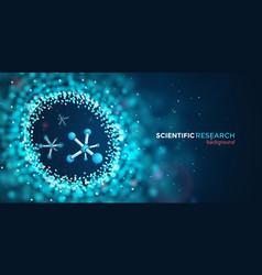 Scientific medical research web banner vector
