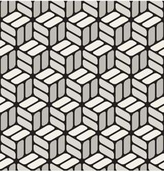Seamless Black White Rounded Corner vector