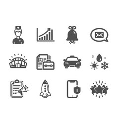 Set business icons such as graph chart vector