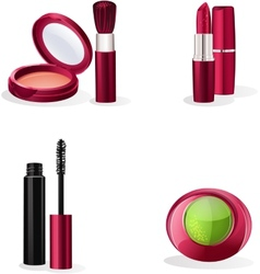 Set of cosmetics makeup vector
