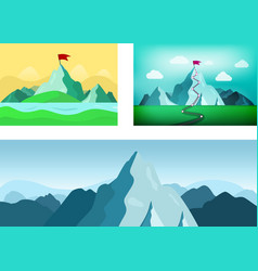 Set with mountains vector