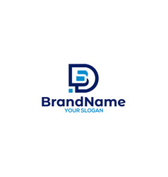 Simple d and s logo design vector