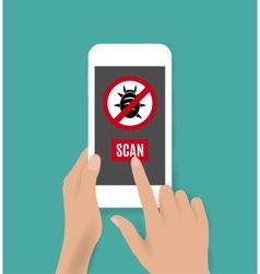 Smartphone antivirus icon vector
