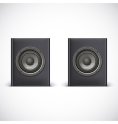 Speakers isolated on white vector image