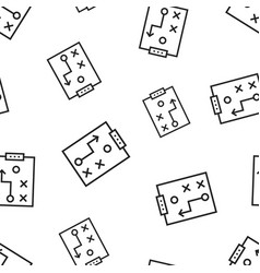 tactical plan document icon seamless pattern vector image
