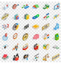 Target icons set isometric style vector