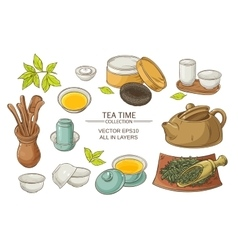 Tea ceremony set vector