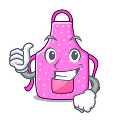 thumbs up kitchen apron in the mascot room vector image
