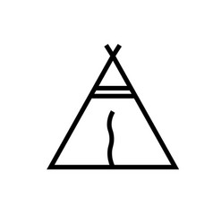 Tipi icon vector