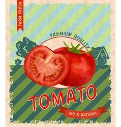 Tomato retro poster vector