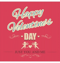 Typographical banner Happy Valentines Day vector image
