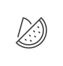 Watermelon line outline icon fruit concept vector
