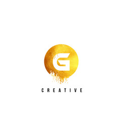 g gold letter logo design with round circular vector image vector image