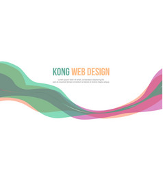 header website abstract colorful design vector image vector image