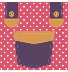 Pocket and suspenders vector