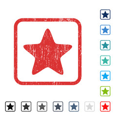 star icon rubber watermark vector image vector image